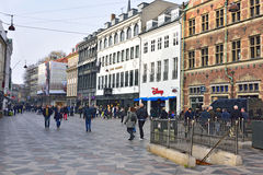 Stroget Copenhagen Royalty Free Stock Images