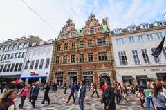 Stroget nel centro di Copenhaghen fotografia stock