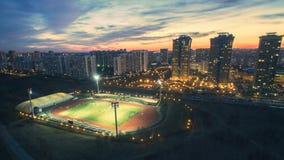 Strogino Yantar体育场 免版税图库摄影