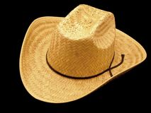 Stroh-Cowboyhut Stockbild