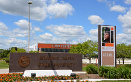 Stroh-Mitte Bowling- Greenstaatlicher universität Stockbild
