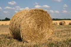 Stroh ricks auf dem Feld Lizenzfreie Stockfotografie