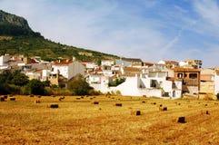 Strohballen in Andalusien, Spanien Stockbilder