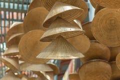 Strohhut oder konische vietnamesische Hüte in Vietnam stockbild