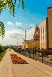 Stroitel stad, Belgorod region Ryssland Arkivfoton