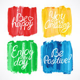 Stroke background with motivation quotes. Simple colorful stroke background with different motivation quotes Royalty Free Stock Image