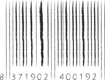 Stroke barcode Stock Photos