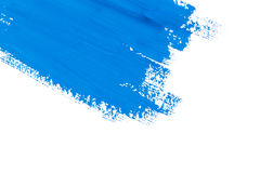 Stroke blue paint brush. Color water watercolor isolated on white background Stock Photos