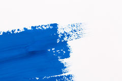 Stroke blue paint brush Royalty Free Stock Photos