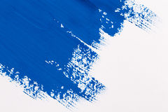 Stroke blue paint brush Royalty Free Stock Photos