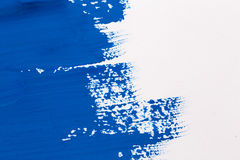 stroke blue paint brush Stock Image