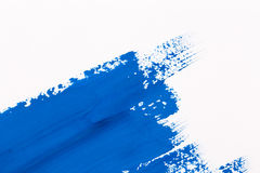 stroke blue paint brush Stock Photo