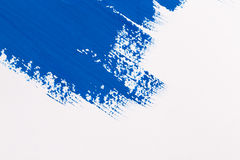 Stroke blue paint brush Stock Photography