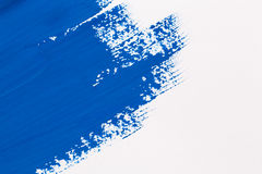 Stroke blue paint brush Royalty Free Stock Image