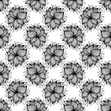 Stroke flower pattern Stock Photos