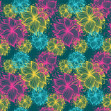 Stroke flower pattern Stock Images