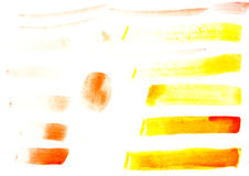 Stroke of gouache paint brush isolated on white Stock Image