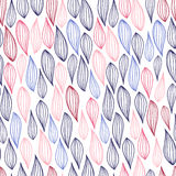 Stroke leaf pattern Royalty Free Stock Images