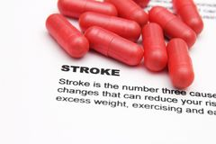 Stroke and pills concept Royalty Free Stock Images