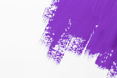 Stroke purple paint brush Royalty Free Stock Photos