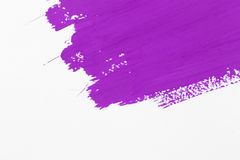 Stroke purple paint brush. Color water watercolor isolated on white background royalty free stock images