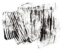 Stroke (sample) of black mascara. Isolated on white macro Stock Image
