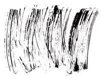 Stroke (sample) of black mascara. Isolated on white macro Royalty Free Stock Images