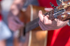 Stroke those strings Stock Images
