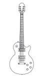 Stroke vintage electric rock guitar Stock Images