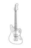 Stroke vintage electric rock guitar Stock Image
