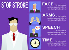 Stroke warning signs and symptoms Stock Photos