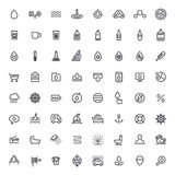 Stroke Water Icons Set Stock Images