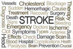 Stroke Word Cloud Stock Photo