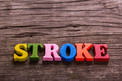 Stroke word made of wooden letters Royalty Free Stock Image