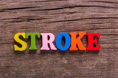 Stroke word made of wooden letters Stock Image