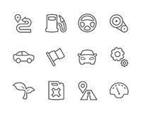Stroked Auto icons Stock Photography