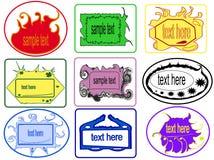 Stroken, stickers Stock Afbeeldingen