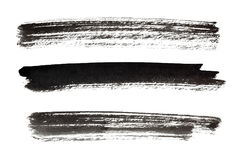 Strokes of black paint Royalty Free Stock Photography