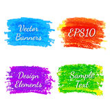 Strokes of colored pencils Royalty Free Stock Images