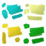 Strokes oil paint. Vector illustration strokes oil paint Royalty Free Stock Photo
