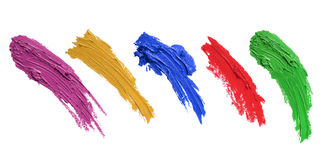 Strokes of paint brush Stock Images