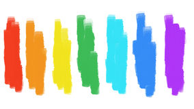 Strokes of paint of spectrum colors Royalty Free Stock Photo