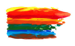 Strokes of rainbow paints Stock Images