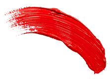 Strokes of red paint Royalty Free Stock Image