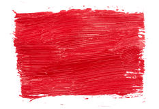 Strokes of red paint Royalty Free Stock Images