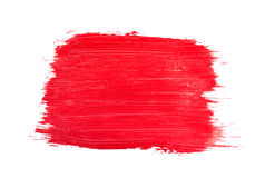 Strokes of red paint. Isolated on white background royalty free stock photos