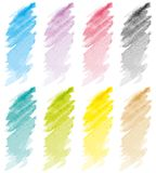 Strokes set pastel Royalty Free Stock Images
