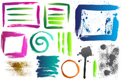 Strokes and spray paint. Royalty Free Stock Photography