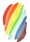 strokes vattenfärg Fotografering för Bildbyråer