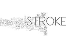 Strokewhy настолько важно прочитать это облако слова иллюстрация вектора